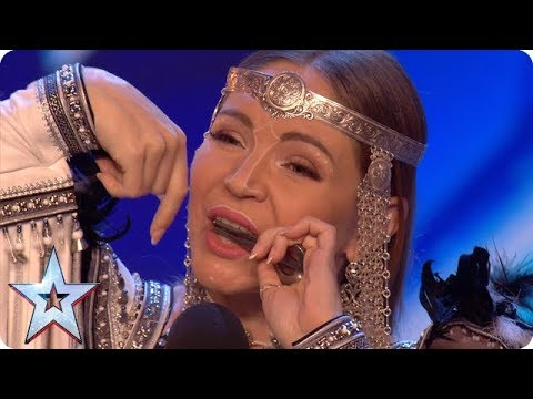 Will jaw harpist Olena be galloping through with her unique HORSE noises?! | Auditions | BGT 2018 thumbnail