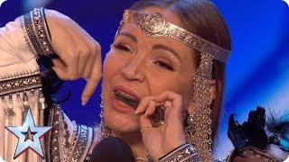 Will jaw harpist Olena be galloping through with her unique HORSE noises?! | Auditions | BGT 2018
