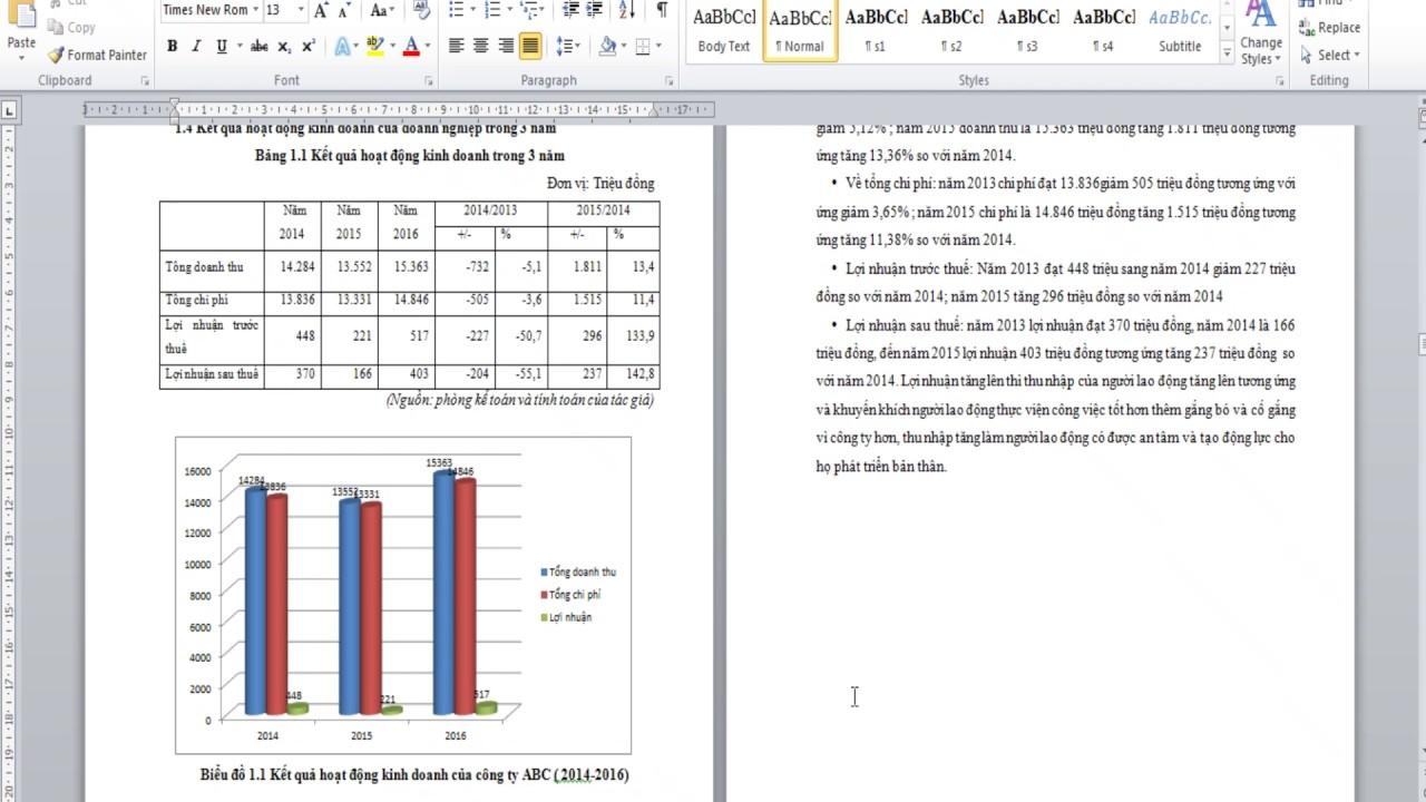 Hướng Dẫn Vẽ Biễu Đồ, Sơ Đồ trong văn bản, Luận Văn, Báo cáo Tốt nghiệp