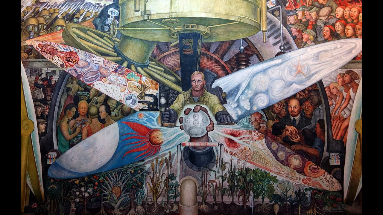 Diego rivera man controller of the universe youtube for Diego rivera lenin mural
