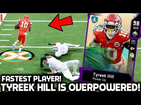 SUPER BOWL TYREEK HILL IS A MADDEN GLITCH! THE FASTEST PLAYER! Madden 20 Ultimate Team