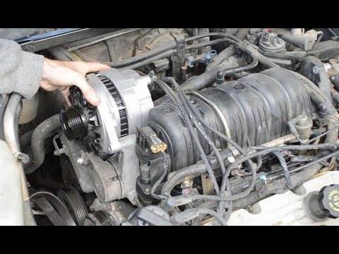 buick lesabre alternator replacement - youtube  youtube