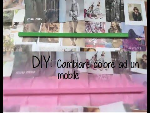 DIY: come cambiare colore ad un pezzo di Mobile di casa - YouTube