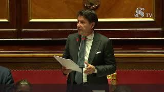 Emergenza Covid-19, comunicazioni del Presidente Conte al Senato sulle nuove iniziative