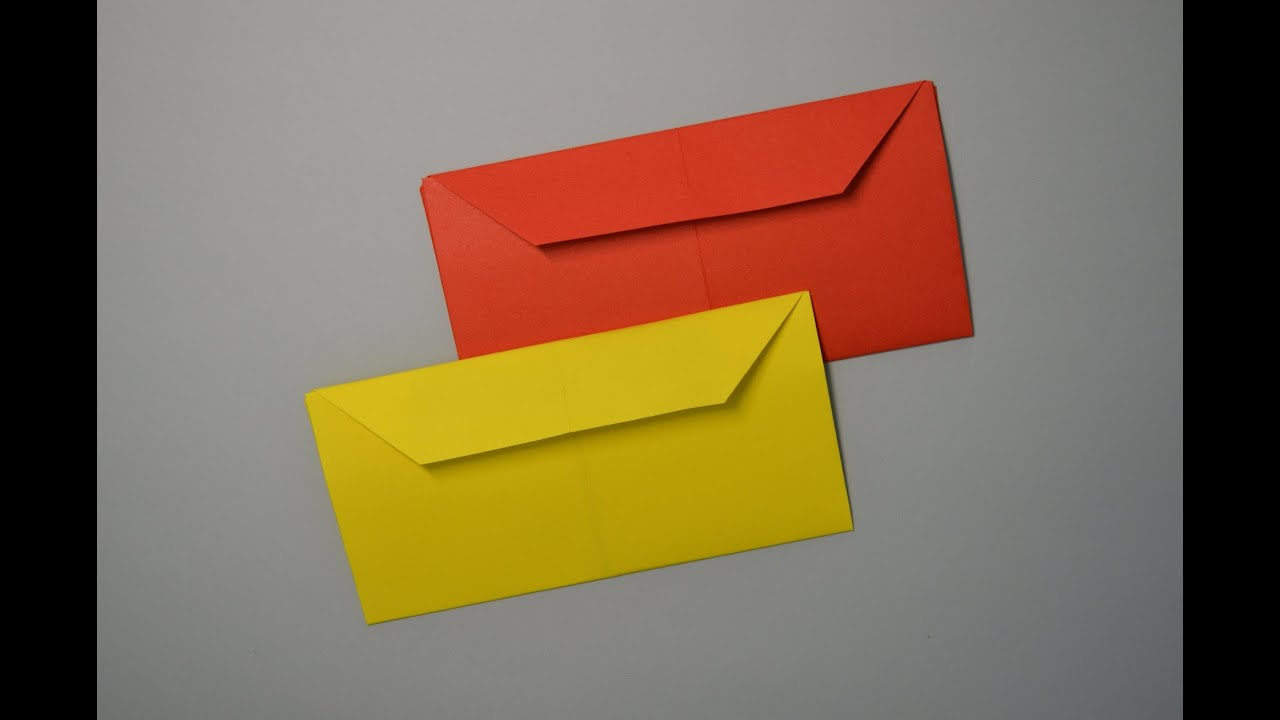 how to make an origami envelope youtube