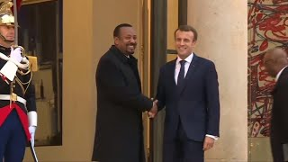 Ethiopia PM Abiy Ahmed in Paris on first trip to Europe
