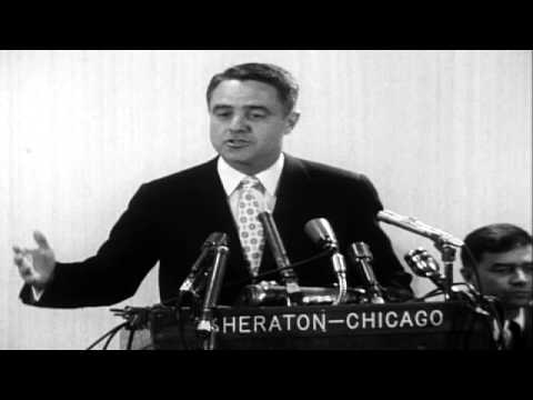 Sargent Shriver Speaks about Peace Corps in Chicago  1961