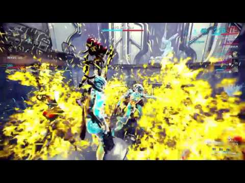 WARFRAME: 60 WAVES OF T4 DEFENCE MESA BUILD AT THE END