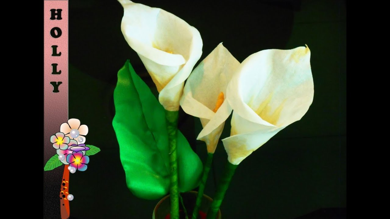 how to make paper flowers calla lily easy and quick paper flowers tutorial youtube - Calla Lily Flower