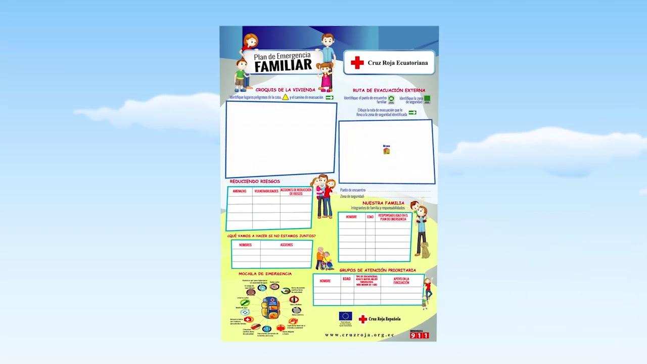 plan familiar de emergencia cruz roja ecuatoriana youtube