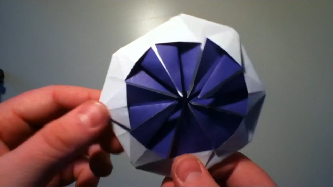 origami blume faltanleitung youtube. Black Bedroom Furniture Sets. Home Design Ideas