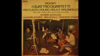 Mozart Quartetto in La K298  GAZZELLONI, ACCARDO, ASCIOLLA, STRANO
