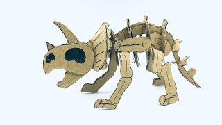 [DINOSAUR] Triceratops Skeleton Cardboard Tutorial - DIY
