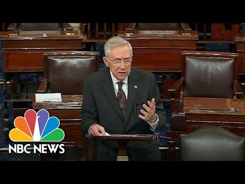 Senator Harry Reid Calls Donald Trump A 'Spoiled Brat' And 'Human Leech' On Senate Floor | NBC News