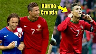 Cristiano Ronaldo Shuts Up Luka Modric & Croatia After They Provoked Ronaldo #Instant karma