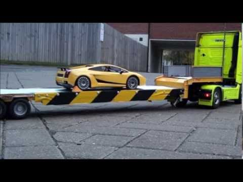 Rc Truck And Trailer Youtube