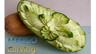Mangoes CARVING | carving fruits | By BÀN TAY ĐEN #carving #watermelon