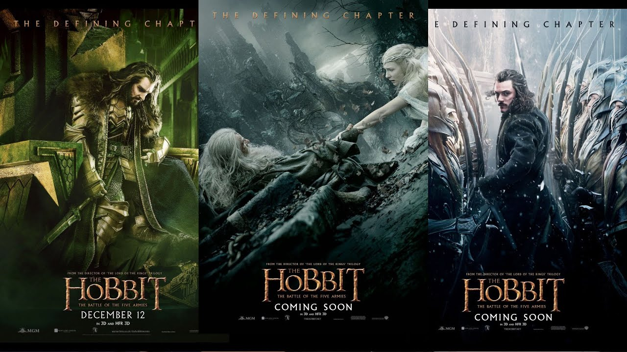 new posters for the hobbit the battle of the five armies