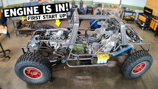 Our HALO Warthog's 1,000 Horsepower TWIN TURBO 438ci Ford Windsor V8 arrives! FIRST START!