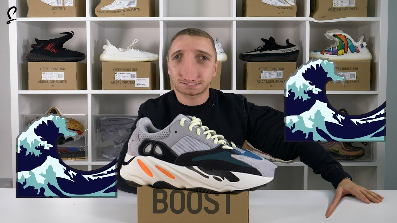 sale retailer 071f6 9d4ed How WAVEY 🌊 is the adidas YEEZY WAVE RUNNER 700?! Review Unboxing & HONEST  THOUGHTS 🌊🌊🌊