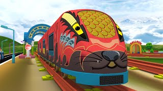 Choo Choo Toy Factory Train Cartoon for kids - Cartoon Toy Train For Kids - Trains