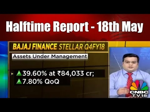 Halftime Report - 18th May | Steller Performance by Bajaj Finance | CNBC TV18