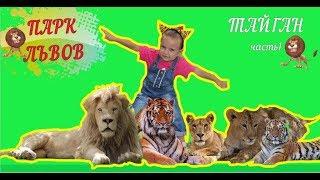 Катя в ПАРКЕ ЛЬВОВ ТАЙГАН! Lion park Taigan часть1 Детское видео