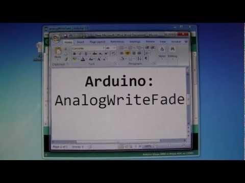 2. Arduino AnalogWrite Fade