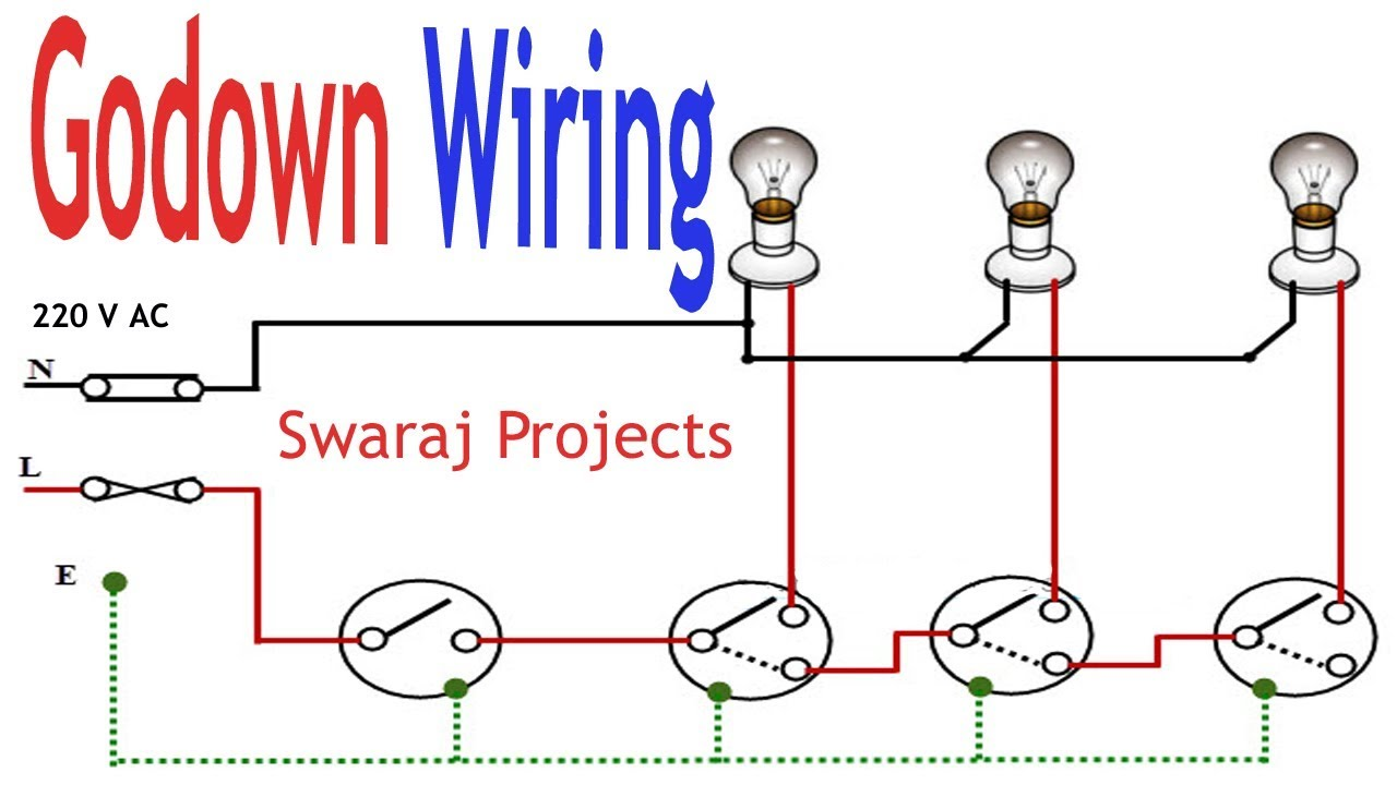 light switch wiring staircase wiring connections youtube rh youtube com Home Wiring Basics with Illustrations Electronic Circuit Diagrams