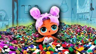 🏠 ¡LLENO la MANSIÓN LOL con 100mil LEGOS! Muñecas y Juguetes para niñas y Niños