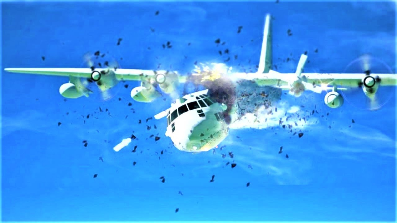 Marine Corps KC-130 Crash, Breaks Up in Mid-Flight, Leflore County, Mississippi, United States