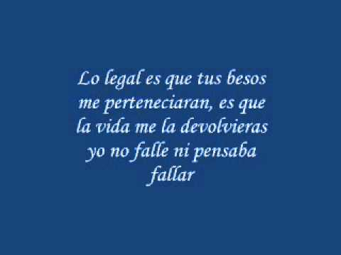 El Bebeto - Lo Legal (letra)