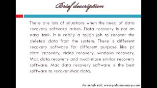 Best software to recover Mac data