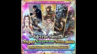 Mobius Final Fantasy:Job Specific Super Supreme Summon!!!