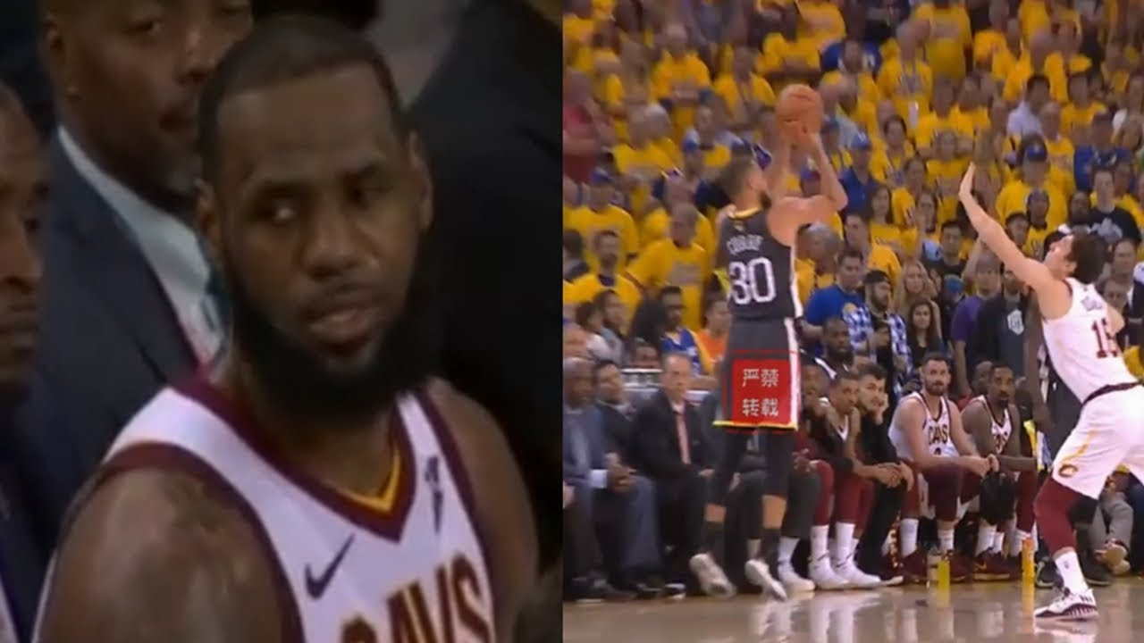 LeBron James Reaction To Stephen Curry Breaking Finals' 3-Point Record&His Teammates Choked