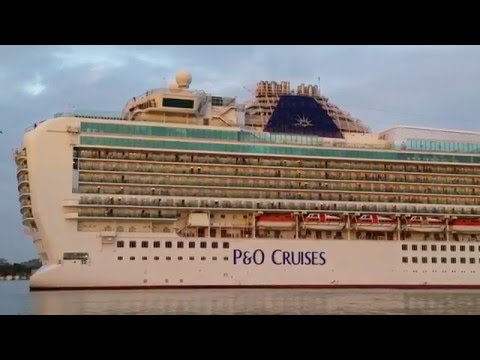 P&O CRUISES AZURA Leaving St. Johns Antigua [HD]