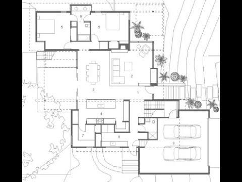Planos de casa de dos pisos grande youtube for Planos arquitectonicos de casas