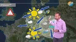Aktuelle Wettervorhersage für den 22. Juni 2020: Sommer, Sonne, Wärme, Ostwind und Kaltlufttropfen.