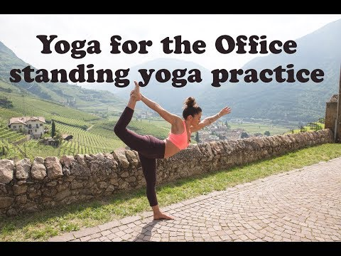 10 Minute Yoga for the Office Standing Yoga Practice