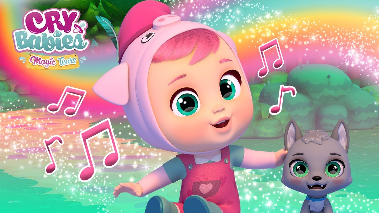 🎶🎤 THE STRONG WIND 🐷💨 KARAOKE 🎵 CRY BABIES 💧 MAGIC TEARS 💕 SONGS for KIDS in ENGLISH