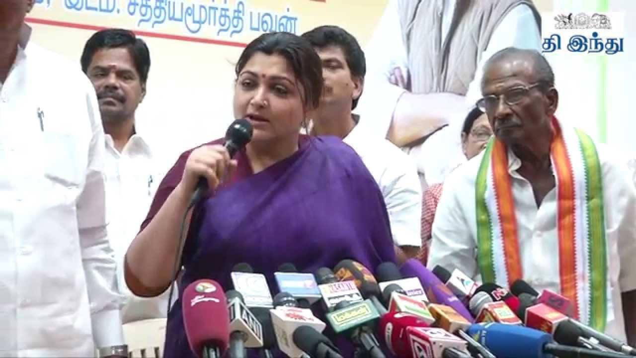 Kushboo Tamil Hot Ideal kushboo joins congress press meet   tamil the hindu - youtube