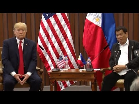 Trump mostly avoids topic of human rights in meeting with Philippine president