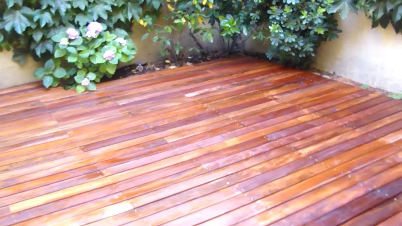 Instalacion decks de madera curupay plastificadora for Como hacer una pileta de cemento