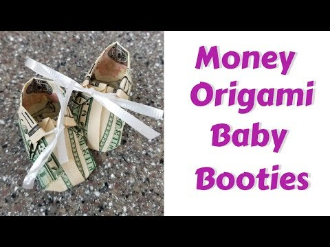 Money Origami Booties