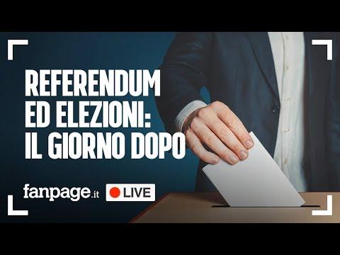 Elezioni, Referendum e Regionali il giorno dopo: tutte le notizie di oggi