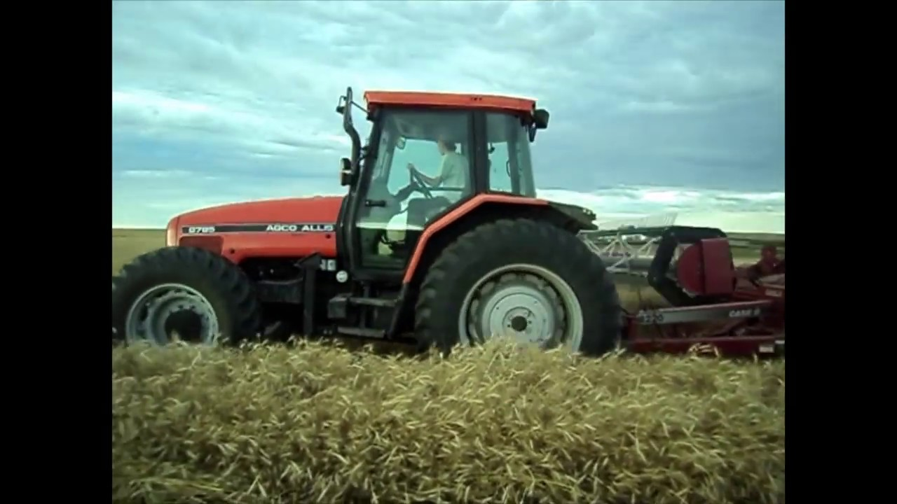 Swathing with a pull type swather
