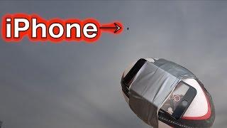 iPhoneをつけたラグビーボールを超上空に吹っ飛ばしキャッチする!!!