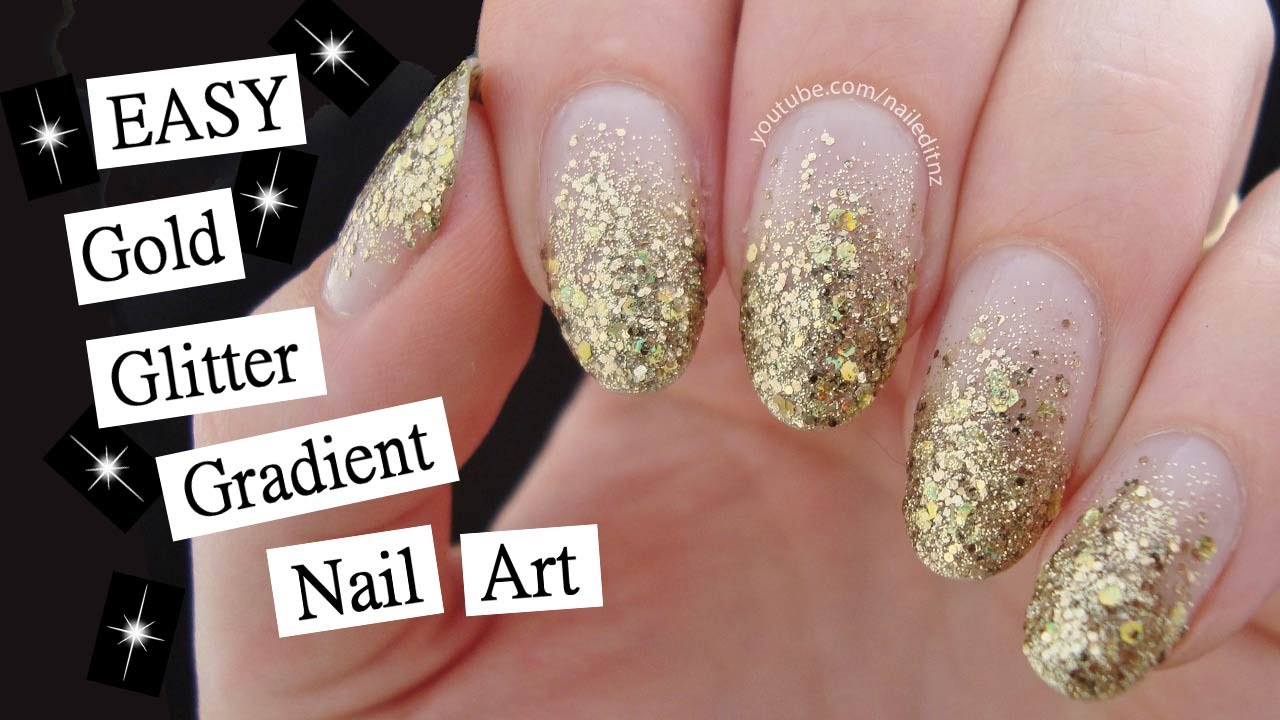 - 15 Minute Glitter Gradient Nail Art Perfect For Beginners! - YouTube