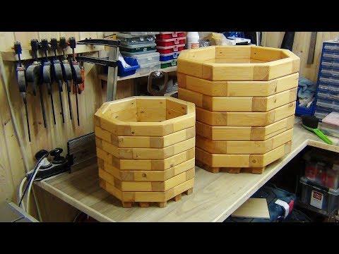 Кашпо для цветов. DIY Wooden Planter Box. Кашпо