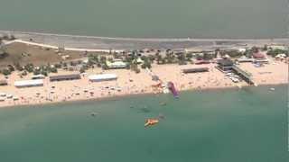 Пляж МАГНАТ Евпатория 2012(Евпаторийский Пляж «Магнат», расположен на перешейке между морем и озером Мойнаки. Дно моря песчаное, без..., 2012-07-21T09:29:33.000Z)